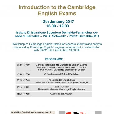 Workshop Cambridge a Bernalda